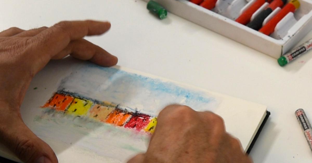 Pittura ad olio con Pastelli