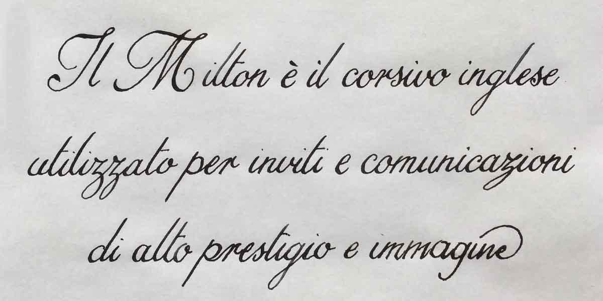 Corso di Calligrafia Milton