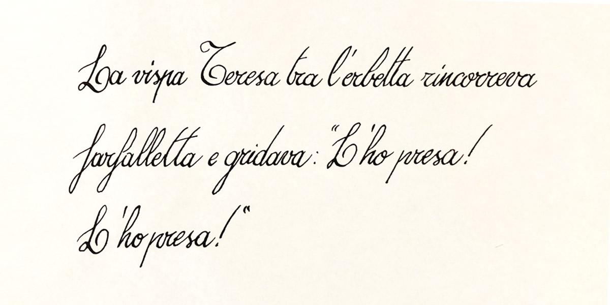 Calligrafia Cosivo Italiano