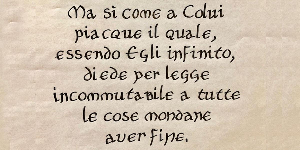 Calligrafia in stile Onciale