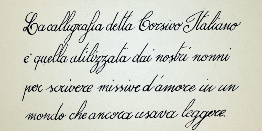 Calligrafia Corsivo Italiano